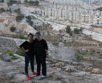 FTT majors Nicole Timmerman (left) and Erin Moffitt (right) traveled to Jerusalem to film a documentary for the Department of Theology