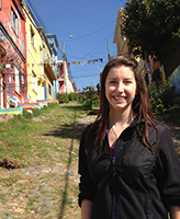 American Studies major Tori Creighton interned as a marketing assistant in Chile