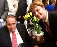 Senior John Vernon attended Bob Dole's 90th Birthday party while interning in Washington, D