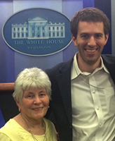 Adam Newman with his grandmother at the White House