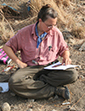 Anthropologist Meredith Chesson in the field
