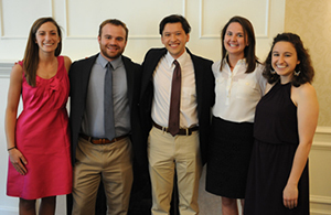International Development Fellows 2015: Megan Fuerst, Matthew Hing, Emily Mediate, Chris Newton, and Laura Zillmer