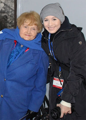 Eva Kor and Dylan Parent