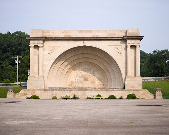 Otis Park Bandshell, a WPA project