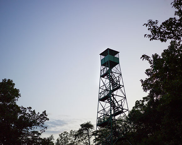 Muscatatuck Fire Tower, a WPA project