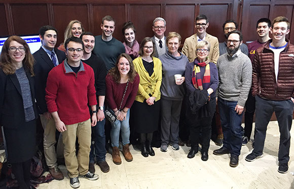 English Majors And Advisers At The 2016 Senior Thesis Reception