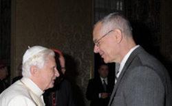 John Cavadini and Pope Benedict XVI