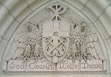 God, Country, Notre Dame: Detail above Basilica door