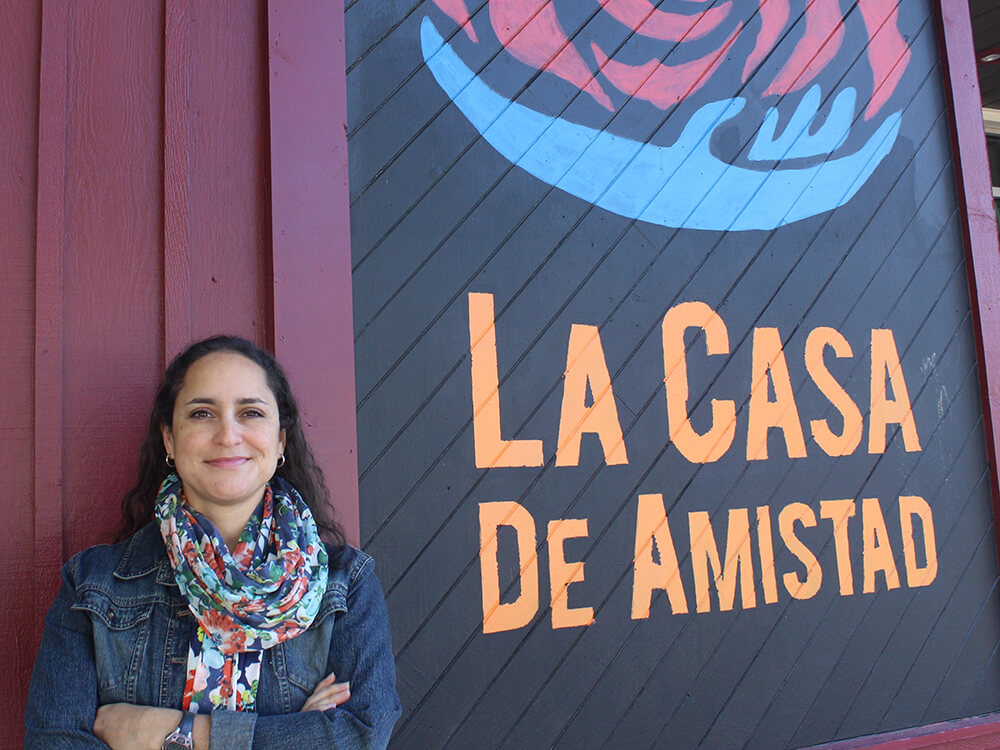 Marisel Moreno outside LaCasa
