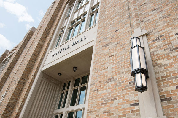 The entrance to O'Neill Hall