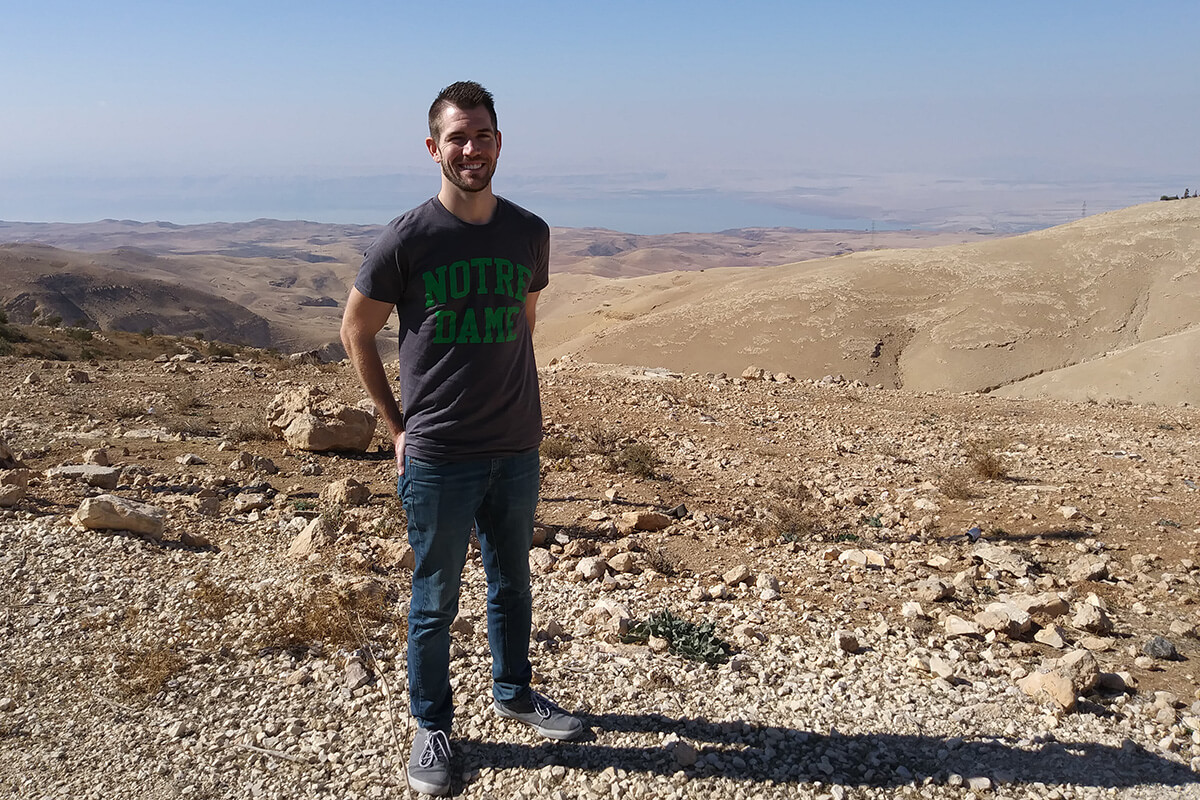 Ph.D. candidate Andrew O'Connor in Jordan