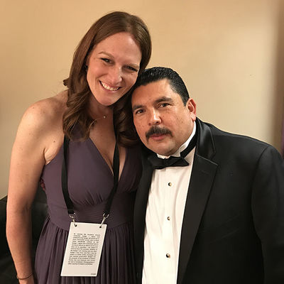 Jen Richardson Backstage At Oscars 600