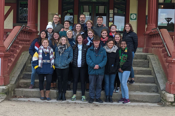 Innovative, team-taught class brings scale of World War I into focus through trip to European battlefields