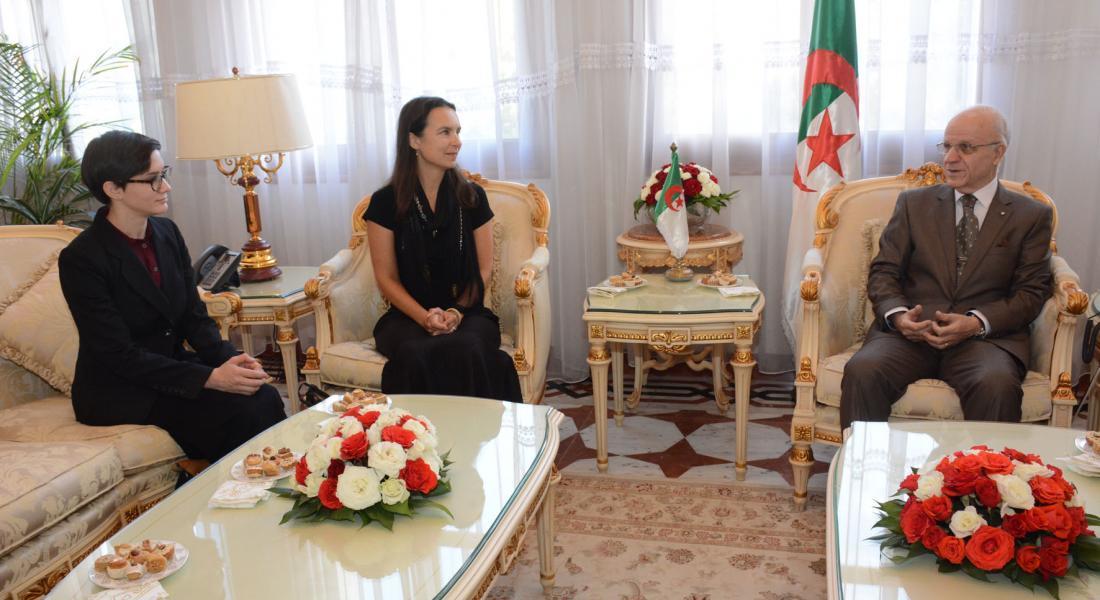 Powell With Grad Student In Algeria