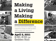 Making a Living Making a Difference poster