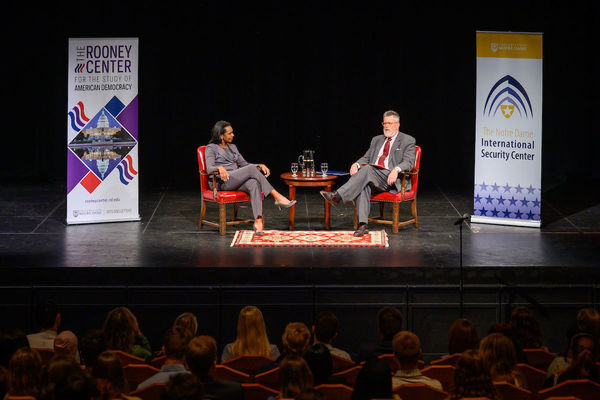 Ndisc Rooney Center Condoleeza Rice And Michael Desch
