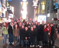 Notre Dame Design Students in Times Square