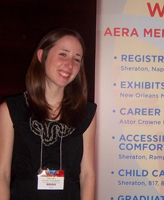 Rachel Roseberry at AERA workshop