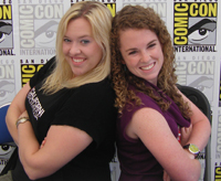 Stephanie DePrez and Ellie Hall at Comic-Con