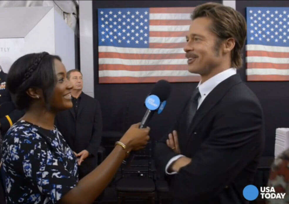 Thompson Plourde With Brad Pitt