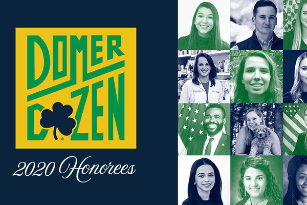 Four Arts & Letters alumni are honored by Alumni Association as part of 2020 Domer Dozen