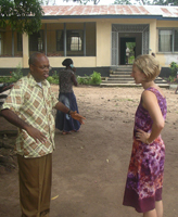 Anthropologist Catherine Bolten in Sierra Leone