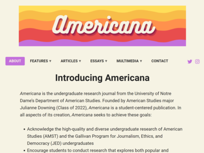 Americana Homescreen Screenshot