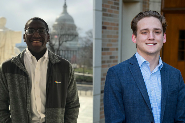 Juniors Tarik Brown, Gregory Miller named 2021 Truman Scholars