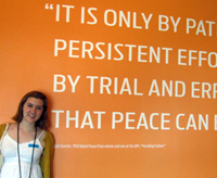 Claire Brosnihan at United Nations headquarters