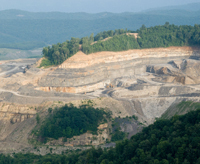 Active mountaintop removal mining in Appalachia, Virginia