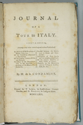 1763 Journal of a Tour to Italy