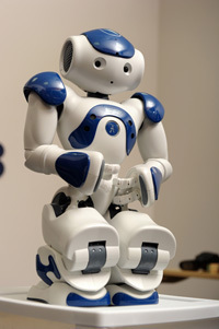 Nao, a robot used in autism research at Notre Dame