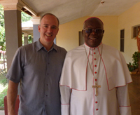 Professor Dan Philpott with Archbishop John Baptist Odama, a leader of the Acholi Religious Leaders Peace Initiative
