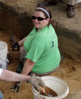 Caitlin Monesmith, a senior anthropology major, interned in the Field Museum's African archaeology lab during summer 2011