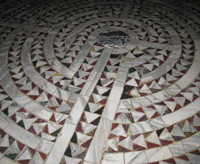 Labyrinth detail from San Vitale in Ravenna, Italy