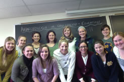 "Susan Blum's ""Anthropology of Childhood and Education"" class"