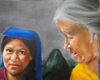 Mary Atwood's senior thesis includes English translations of three Inca legends and a series of original oil paintings