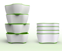 Ryan Geraghty's new design for meal preparation bowls won an award at the 2011 International Housewares Association Student Design Competition and has already been patented