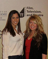 "Grace Johnson, left, and Kelsie Kiley at the premiere of their documentary, ""Project Hopeful"""
