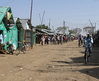 The main street of Kakuma Camp 1, Kakuma Refugee Camp, Kenya