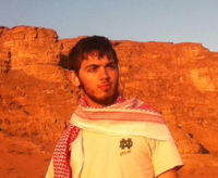 Owen Cox in Jordan on a 2012 Summer Language Abroad grant