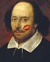 Chandos Portrait, Shakespeare Kiss