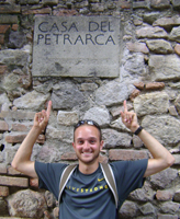 For his senior thesis, Michael McHale '12, traveled across France and Italy, visiting locations significant to the 14th century poet and philosopher Petrarch