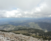 View from the summit of Mt