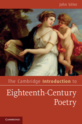 Cambridge Introduction to Eighteenth-Century Poetry, by John Sitter