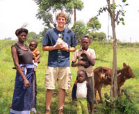 Anthropology major Greg Yungtum traveled to Uganda to study rural farmers and land development issues
